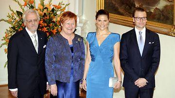 Kruununprinsessa Victoria ja prinssi Daniel presidentinlinnassa 1.11.2010.