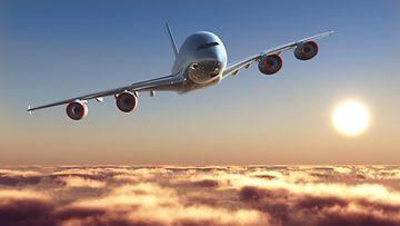 lentokone taivaalla