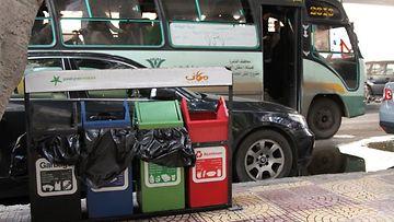Kierrätysastiat ovat Kairon kaduilla harvinainen näky