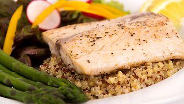 kala,-kvinoa,-vatsalihakset,-painonpudotus