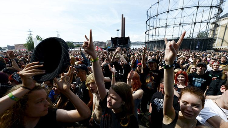 estival goers attend Tuska 2012 Open Air Metal Festival in Helsinki, Finland on July 1, 2012.