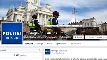 Poliisin facebook Helsingin poliisi