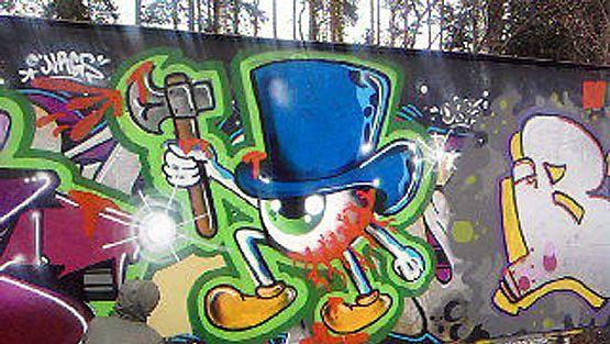 Keravalaista graffititaidetta. (Kuva: Joonas Syrjämäki.)
