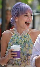 Ennen sinisiä hiuksia Nicole Richie kokeili laventelin väriä.