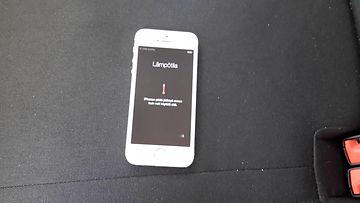 Apple iPhone 5S - lämpötilavaroitus