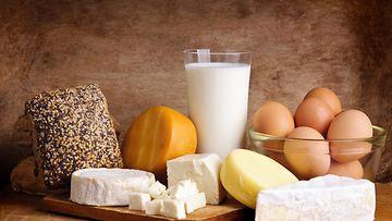 Kananmuna, maito, juusto