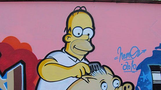 Keravalaista graffititaidetta. (Kuva: Jouni Väänänen.)
