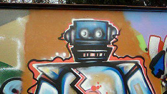 Keravalaista graffititaidetta.