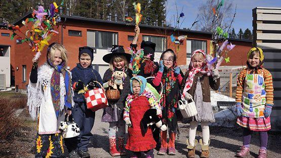 Nämä pikkunoidat olivat liikkeellä Espoon Eestinmalmilla.