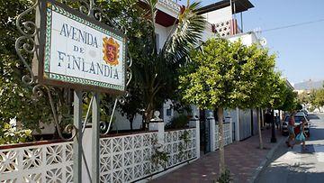 Suomen nimikkokatu Fuengirolassa, Andalusiassa.Kuva: Lehtikuva