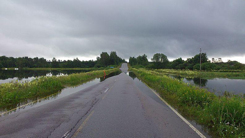 Tulvatilanne Jalasjärvellä 13.7.2012. Kuva: Tuomas Ala-Varvi
