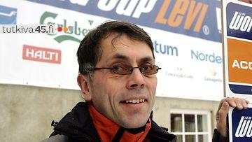 Levin maailmancupin kisan järjestelytoimikunnan puheenjohtaja Jouni Palosaari.