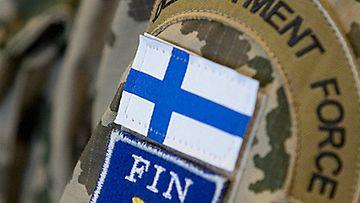 Ensimmäiset suomalaiset rauhanturvaajat lähtivät Tshadiin Turusta 19. helmikuuta 2008. Kuva: Lehtikuva