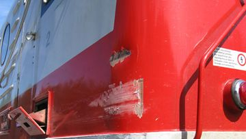 Juna ja jäteauto kolaroivat Muuramessa 23.7.09 Kuva: Poliisi