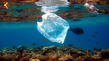 Muovijätteen määrä Välimeressä kasvaa. Kuva: EPA