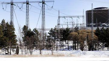 Fortumin ydinvoimalaitos Loviisan Hästholmenissa 24. maaliskuuta 2010. (Lehtikuva)