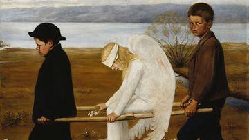 Hugo Simberg: Haavoittunut enkeli (1903) Kuva: Ateneum
