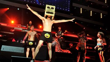 LMFAO performs onstage during Z100's Jingle Ball 2011, presented by Aeropostale at Madison Square Garden on December 9, 2011 in New York City.