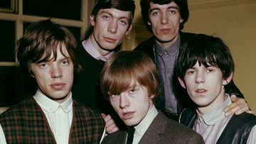 The Rolling Stones 1963: Mick Jagger, Charlie Watts, Bill Wyman, Kieth Richards ja Brian Jones (edessä).