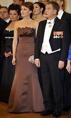 Sauli Niinistö ja Jenni Haukio itsenäisyyspäivän vastaanotolla presidentinlinnassa 6. joulukuuta 2009.
