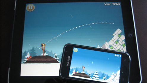 Galaxy S ja iPad, Angry Birds