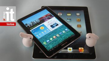 Samsung Galaxy Tab 7.7 ja Apple iPad