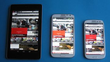 Google Nexus 7, Samsung Galaxy Note II, Samsung Galaxy S III