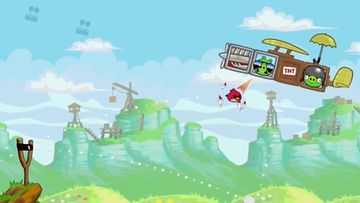 "Angry Birds ""Red's Mighty Feathers"". Kuvakaappaus YouTube-videosta."