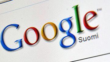 Internet-hakukone Googlen google.fi -etusivu kuvattuna tietokoneen näytöltä Helsingissä, 21. lokuuta 2009. Kuva: Lehtikuva
