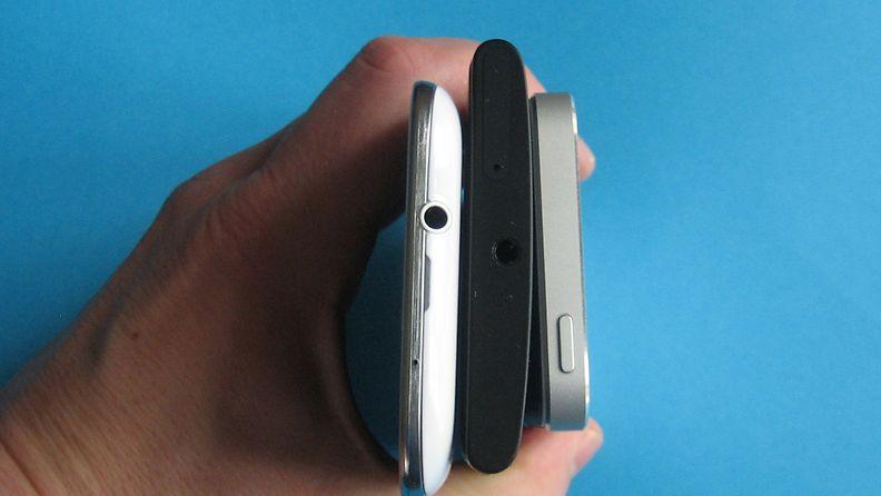 Nokia Lumia 920, Samsung Galaxy S3 ja iPhone 5