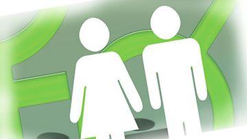 Sukupuolten välillä on palkkaeroja myös johtoportaassa.