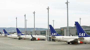 Kuvituskuvaa Oslon Gardemoenin lentokentältä.