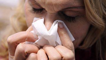 Suomessa on tänä talvena vältytty vielä toistaiseksi pahimmilta influenssaepidemioilta. (Lehtikuva)