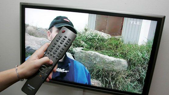 Tv-maksu nousee 14 euroa. (Lehtikuva)