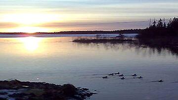 (17.2.2008) Helmikuinen auringonlasku Seinäjoella.