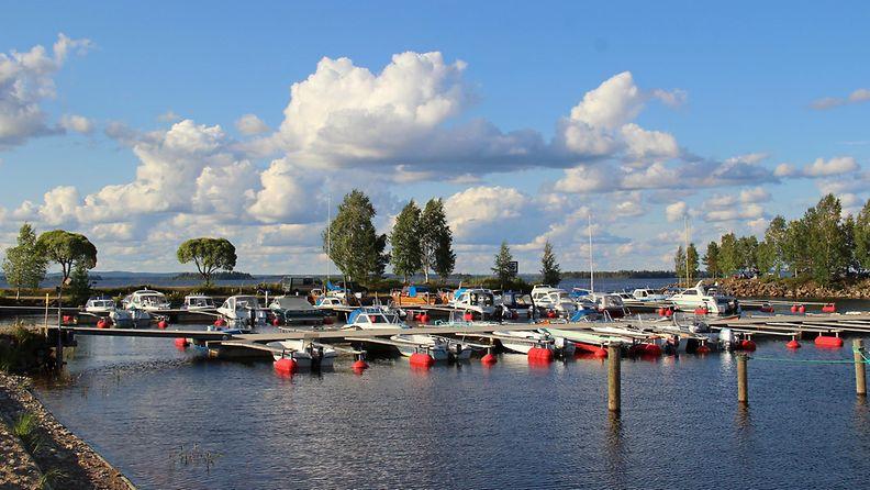 Kesäpäivä Kajaanin Paltaniemellä, Oulujärven rannalla 2. elokuuta 2014. Lukijan kuva: Sinikka Kujala