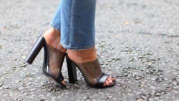 farkut, mules, kengät, korkokengät