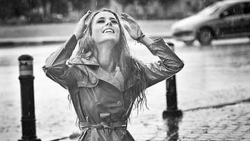 hiukset, sade, tyyli
