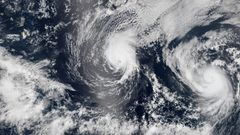 Vilkas hurrikaanikausi Tyynell�merell�, Atlantilla tavanomaista v�hemm�n myrskyj�