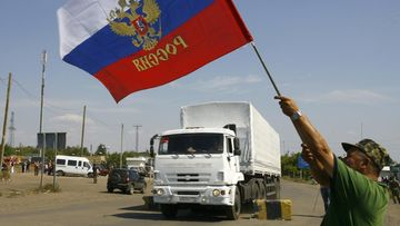 Ukraina Venäjä avustusrekat