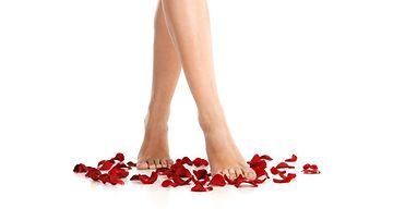 ruusuilla kävely