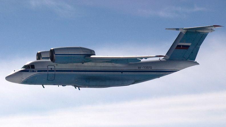 Venäläisen AN-72-tyyppisen koneen epäillään tulleen luvatta Suomen ilmatilaan Porvoon edustalla 28. elokuuta 2014.