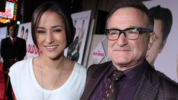 Zelda Williams isänsä Robin Williamsin kanssa