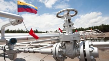 A view of the oil camp in Morichal district of Orinoco Oil Belt, Monagas state, Venezuela, on 22 August 2012. Reports state that President Hugo Chavez said on 21 August between 2013 and 2016 will be invested 130.000 million dollars in the belt, the first oil reserve worldwide, to increase the national production from 3 million barrels daily, to 6 million barrels.