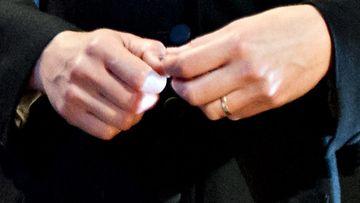 Krista Kosonen edusti kaunis kihlasormus sormessaan.