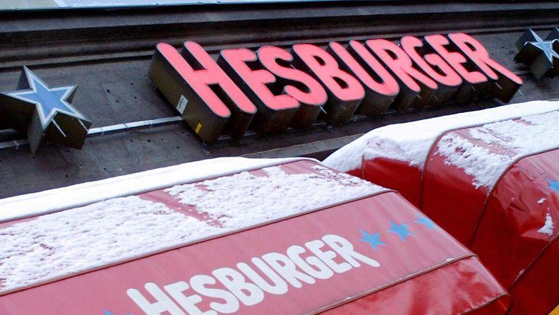 Hesburgerin hampurilaisravintola Helsingissä.