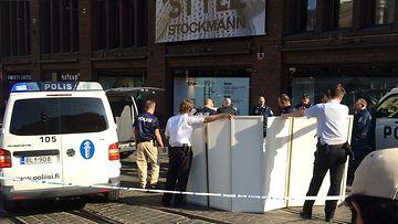 Bussin alle j��nyt kuoli Helsingin keskustassa