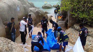 Tunnustus Thaimaan turistisurmissa