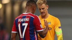 Jerome Boateng ja Joe Hart