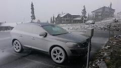 Ensimmäiset lumisateet Lappiin